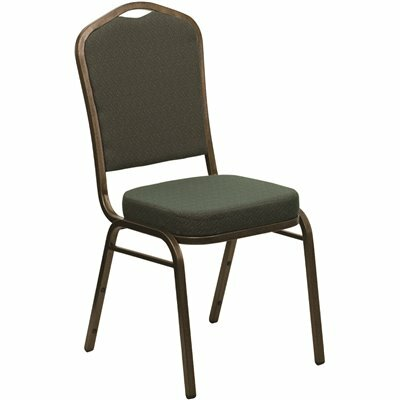 CARNEGY AVENUE GREEN PATTERNED FABRIC/GOLD VEIN FRAME STACK CHAIR