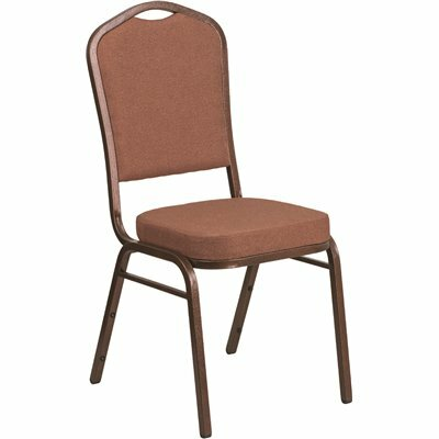 CARNEGY AVENUE BROWN FABRIC/COPPER VEIN FRAME STACK CHAIR