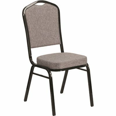CARNEGY AVENUE GRAY FABRIC/BLACK FRAME STACK CHAIR