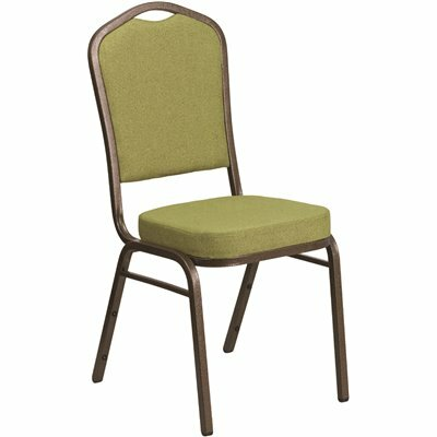 CARNEGY AVENUE MOSS FABRIC/GOLD VEIN FRAME STACK CHAIR