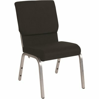 CARNEGY AVENUE BLACK FABRIC/SILVER VEIN FRAME STACK CHAIR