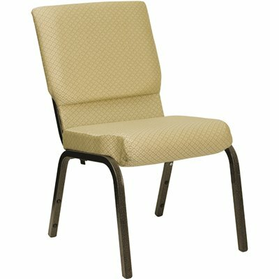 CARNEGY AVENUE BEIGE PATTERNED FABRIC/GOLD VEIN FRAME STACK CHAIR