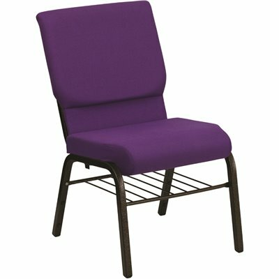 CARNEGY AVENUE PURPLE FABRIC/GOLD VEIN FRAME STACK CHAIR