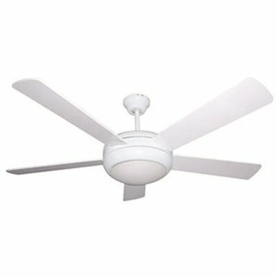 LODGING STAR 52 IN. INDOOR WHITE CEILING FAN WITH LIGHT KIT