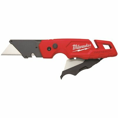 MILWAUKEE FASTBACK FOLDING UTILITY KNIFE WITH BLADE STORAGE AND GENERAL PURPOSE BLADE
