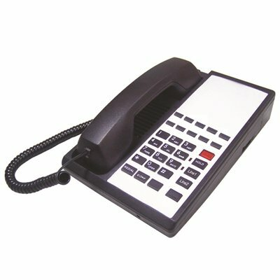 LODGING STAR GUESTROOM PHONE HTP SERIES CORDED, 2 LINES WITH SPEAKER AND 10 MEMORY, BLACK