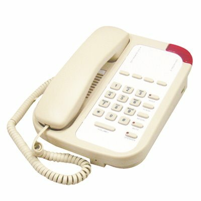 LODGING STAR GUESTROOM PHONE PH SERIES CORDED, WITH SPEAKER AND 5 MEMORY - ASH