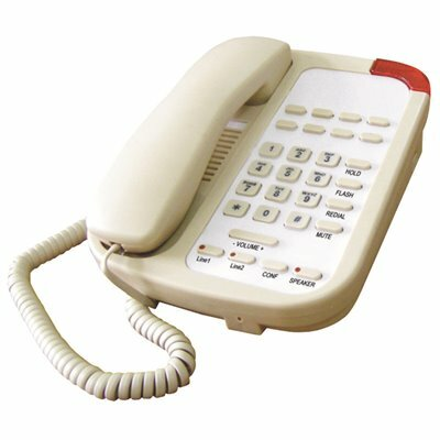 LODGING STAR GUESTROOM PHONE PH SERIES CORDED, 2 LINES WITH SPEAKER AND 9 MEMORY - ASH