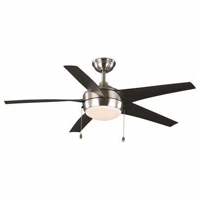 WINDWARD 52 IN. INDOOR BRUSHED NICKEL CEILING FAN WITH LIGHT