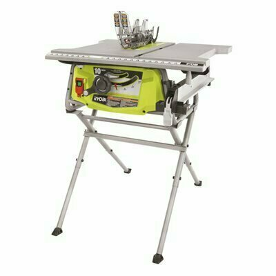 RYOBI 15 AMP 10 IN. TABLE SAW WITH FOLDING STAND