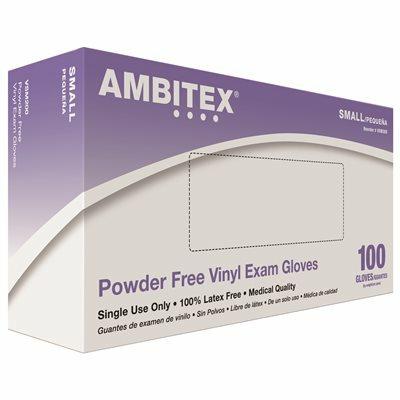 AMBITEX SMALL VINYL EXAM POWDER FREE