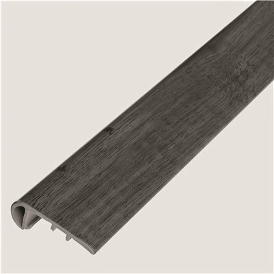 SHAW MELROSE OAK BARNWOOD 1/8 IN. THICK X 1-3/4 IN. WIDE X 94 IN. LENGTH VINYL STAIR NOSE MOLDING
