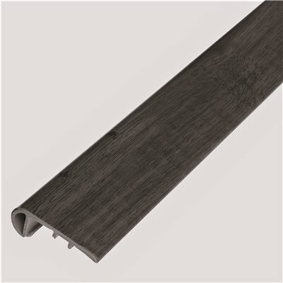 SHAW SMITH FLOWERS WEATHERED BARNWOOD 1/8 IN. THICK X 1-3/4 IN. WIDE X 94 IN. LENGTH VINYL STAIR NOSE MOLDING