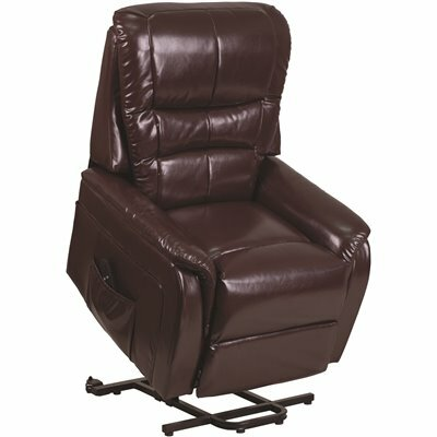 FLASH FURNITURE BROWN LEATHERSOFT RECLINER