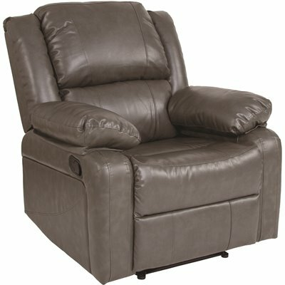 FLASH FURNITURE GRAY LEATHERSOFT RECLINER