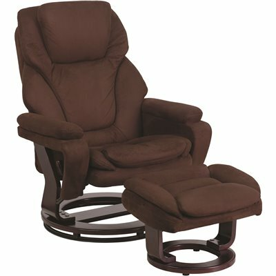 FLASH FURNITURE BROWN MICROFIBER RECLINER
