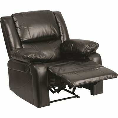 FLASH FURNITURE BLACK LEATHERSOFT RECLINER