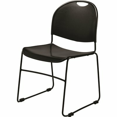 NATIONAL PUBLIC SEATING BLACK MULTI-PURPOSE ULTRA COMPACT STACK CHAIR (4-PACK)