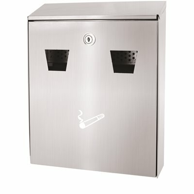 ALPINE INDUSTRIES STAINLESS STEEL WALL MOUNTED CIGARETTE DISPOSAL STATION OUTDOOR ASHTRAY