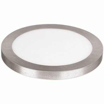 FEIT ELECTRIC 13 IN. DIMMABLE NICKEL INTEGRATED COLOR SELECTABLE LED COLOR EDGE-LIT ROUND FLAT PANEL CEILING FLUSHMOUNT