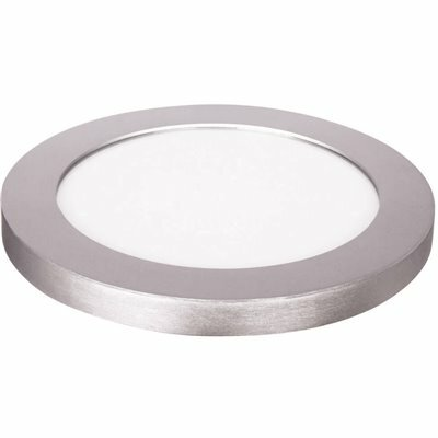 FEIT ELECTRIC 11 IN. DIMMABLE NICKEL INTEGRATED COLOR SELECTABLE LED EDGE-LIT ROUND FLAT PANEL CEILING FLUSHMOUNT