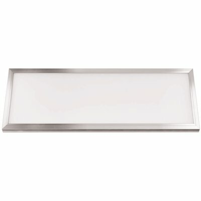 FEIT ELECTRIC 1 FT. X 4 FT. 50-WATT DIMMABLE NICKEL INTEGRATED LED 4 WAY COLOR EDGE-LIT FLAT PANEL CEILING FLUSH MOUNT