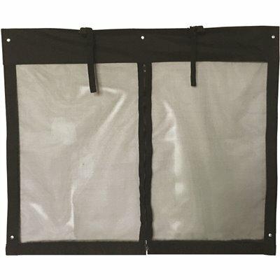 18 FT. X 7 FT. BLACK SNAP-ON GARAGE DOOR SCREEN WITH ZIPPER