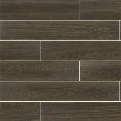 MSI FRENCH OAK NERO 6 IN. X 36 IN. MATTE CERAMIC FLOOR AND WALL TILE (15 SQ. FT./CASE)