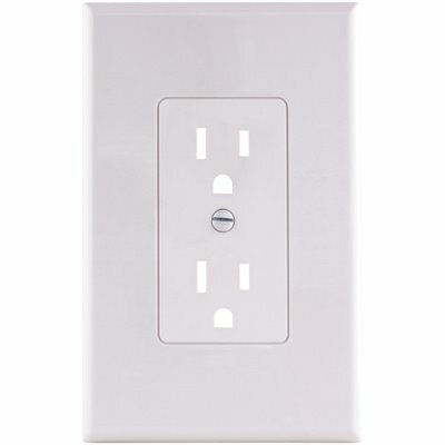 TITAN3 WHITE SMOOTH 1-GANG PLASTIC DECORATOR WALL PLATE (5-PACK)