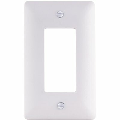 TITAN3 1-GANG PLASTIC DECORATOR WALL PLATE, WHITE TEXTURED (5-PACK)