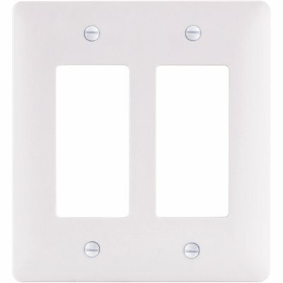 TITAN3 2-GANG PLASTIC DECORATOR WALL PLATE, WHITE TEXTURED (5-PACK)