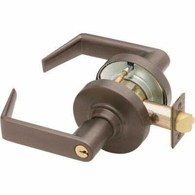 SCHLAGE ND SERIES OIL RUBBED BRONZE ENTRANCE FUNCTION DOOR LEVER