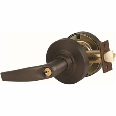 SCHLAGE ND SERIES OIL RUBBED BRONZE ENTRANCE/OFFICE FUNCTION DOOR LEVER