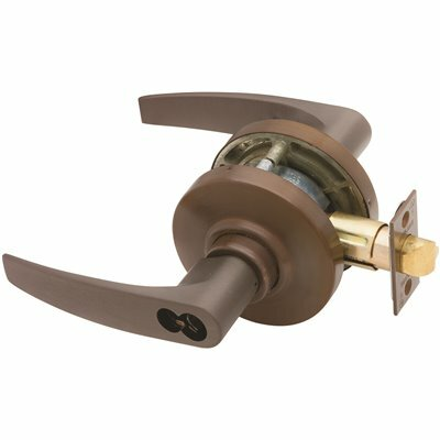 SCHLAGE AL SERIES OIL RUBBED BRONZE STOREROOM FUNCTION DOOR LEVER