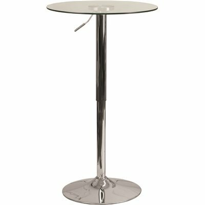 CARNEGY AVENUE CLEAR/CHROME DINING TABLE