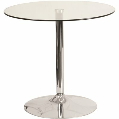 CARNEGY AVENUE CLEAR/CHROME DINING TABLE