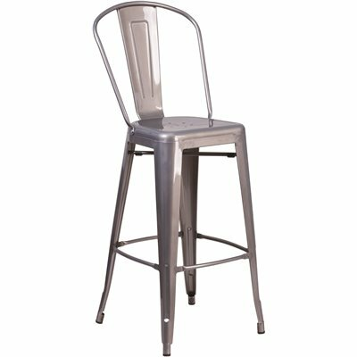 FLASH FURNITURE 30.5 IN. CLEAR COATED BAR STOOL