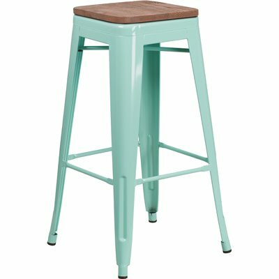FLASH FURNITURE 30 IN. MINT GREEN BAR STOOL