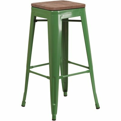 FLASH FURNITURE 30 IN. GREEN BAR STOOL