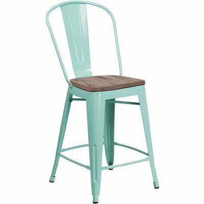 FLASH FURNITURE 24 IN. MINT GREEN BAR STOOL