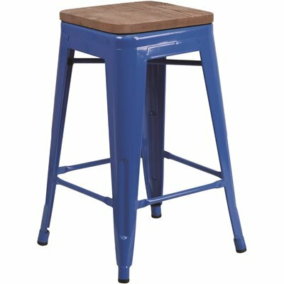 FLASH FURNITURE 24 IN. BLUE BAR STOOL
