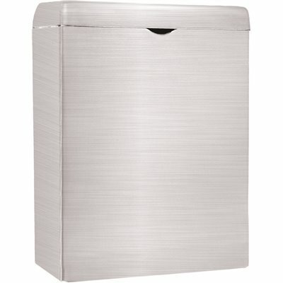 ALPINE INDUSTRIES WALL-MOUNTED SANITARY NAPKIN RECEPTACLE IN STAINLESS STEEL