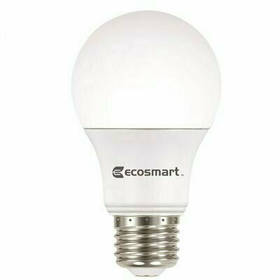 ECOSMART 60-WATT EQUIVALENT A19 NON-DIMMABLE CEC T20 LED LIGHT BULB COOL WHITE (8-PACK)