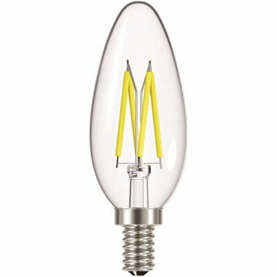 ECOSMART 40-WATT EQUIVALENT CANDLE B11 DIMMABLE CLEAR BLUNT TIP LED LIGHT BULB SOFT WHITE (6-PACK)
