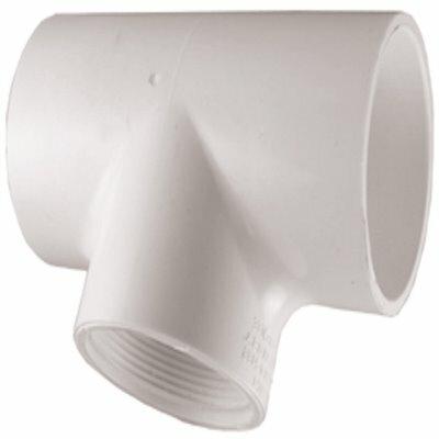 MUELLER STREAMLINE 3/4 IN. X 3/4 IN. X 1/2 IN. PVC SCHEDULE 40 S X S X FEMALE PIPE THREAD REDUCING TEE - MUELLER STREAMLINE PART #: 402-101