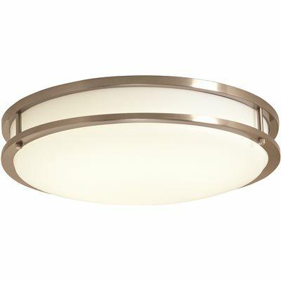ENVIROLITE 12 IN. BRUSHED NICKEL/WHITE LOW-PROFILE LED CEILING LIGHT