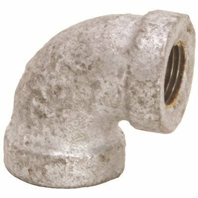 PROPLUS 1-1/4 IN. LEAD FREE GALVANIZED MALLEABLE 90-DEGREE ELBOW