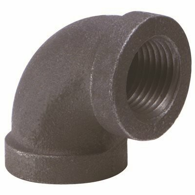 PROPLUS 1/2 IN. X 3/8 IN. BLACK MALLEABLE 90-DEGREE ELBOW