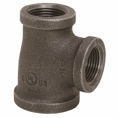 PROPLUS 1 IN. X 3/4 IN. X 3/4 IN. BLACK MALLEABLE TEE - PROPLUS PART #: 45063