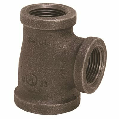 PROPLUS 1 IN. X 3/4 IN. X 1 IN. BLACK MALLEABLE TEE - PROPLUS PART #: 45064